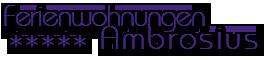 Logo von Ferienwohnungen Ambrosius