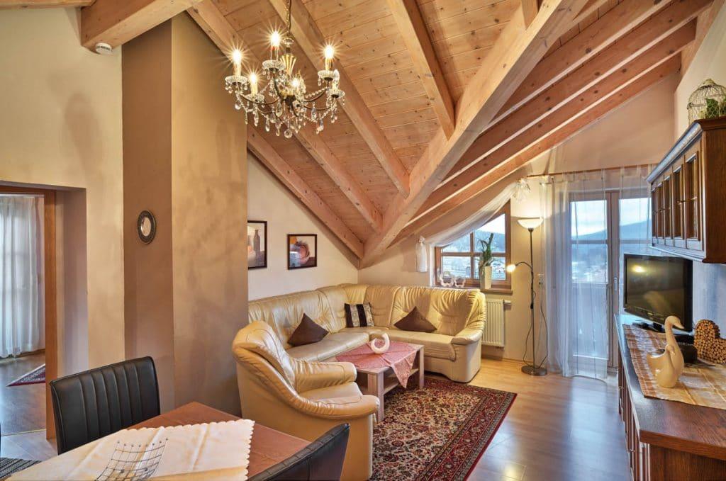 Wohnzimmer in den Ferienwohnungen