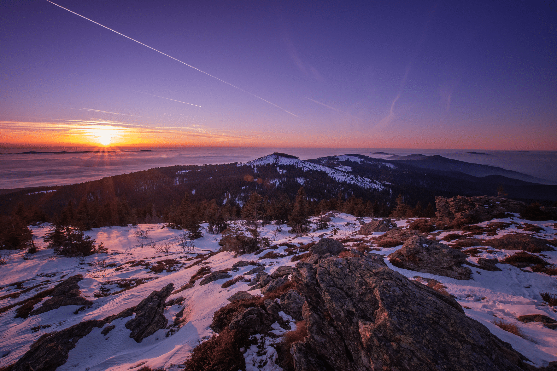 Sonnenuntergang am Arber